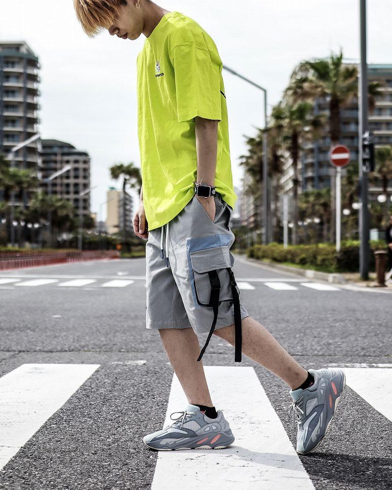 サイドベルトカーゴショートパンツ ハーフパンツ メンズの商品画像3